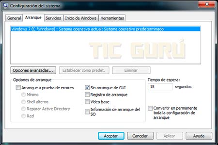 Optimizar el arranque de windows