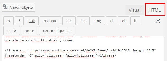 Incrustar video en WordPress