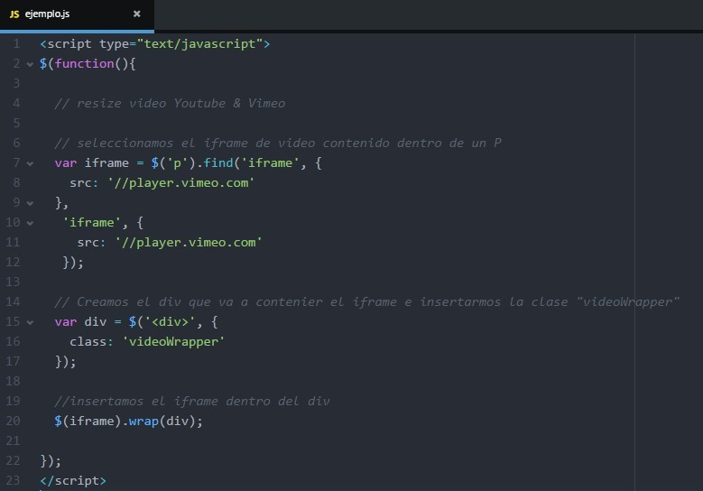 Incrustar video de Youtube y Vimeo con jQuery